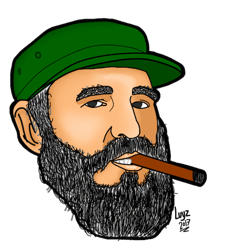 Cartoon: Fidel Castro Cartoon (medium) by luyzk tagged cuba,fidel,casto,revolution,cigar