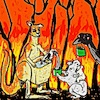 Cartoon: Australia (small) by takeshioekaki tagged fire