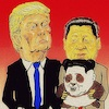 Cartoon: thoughtful gift (small) by takeshioekaki tagged trump