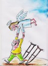 Cartoon: End Polio Draw (small) by vadim siminoga tagged polio,diseasepolio,disease,children,medicine,corruption,angel