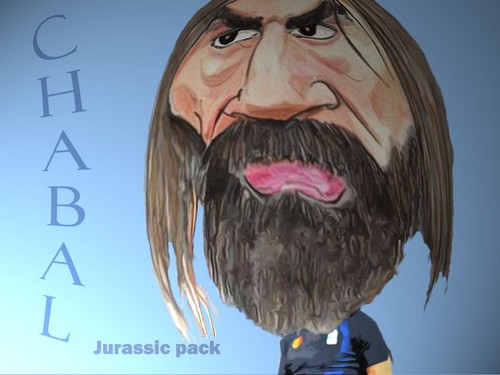 Cartoon: sebastien chabal (medium) by MFOURGON tagged chabal,sebastien