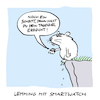 Cartoon: Abwärts (small) by Bregenwurst tagged smartwatch,lemming,abgrund,schritte,fitness,suizid