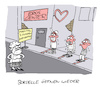 Cartoon: Freude (small) by Bregenwurst tagged coronavirus,pandemie,abstand,bordell,puff,rotlicht,lockerung