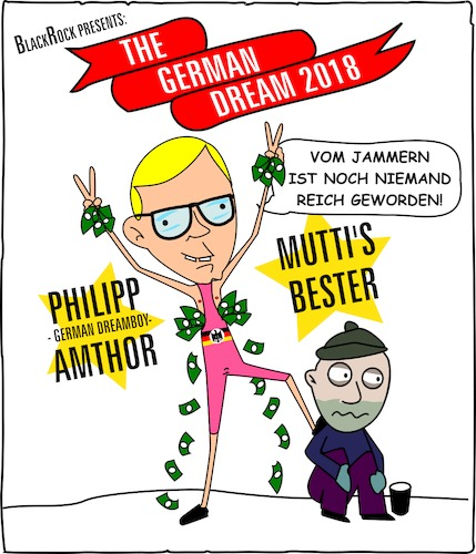 Cartoon: Living The German Dream (medium) by Cory Spencer tagged cdu,amthor,germandream