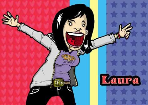 Cartoon: Laura (medium) by GrahamFox tagged spanky