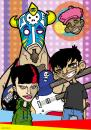 Cartoon: Fox Band (small) by GrahamFox tagged band,illustration