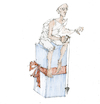 Cartoon: Weihnachtsstarre (small) by herranderl tagged advent,weihnachten,christmas,geschenk