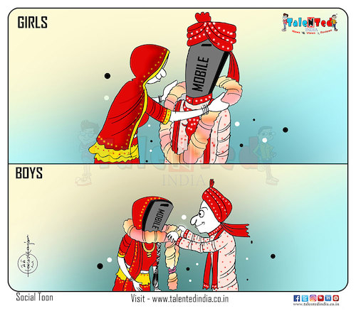 Cartoon: Mobile is your partner ... (medium) by Talented India tagged cartoon,talented,talentedindia,talentednews