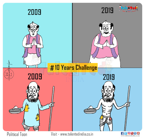 Cartoon: Today Cartoon On Fitness Challe (medium) by Talented India tagged cartoon,talented,talentedindia,talentednews,talentedcartoon