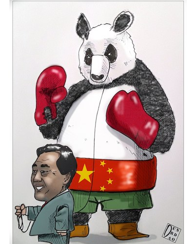 Cartoon: La Cina si prende la Fao. Battut (medium) by Christi tagged cina,fao,usa,enione,europea,la