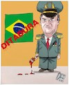 Cartoon: Bolsonaro dictadura (small) by Christi tagged brazil,bolsonaro,dictadura