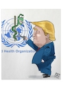 Cartoon: Tagli all oms (small) by Christi tagged trump,oms,fondi,coronavirus,covid