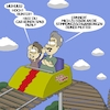 Cartoon: Achterbahnfahrt (small) by Ocean Artmedias tagged cartoon,toon,funny,lustig,humor,satire,sketch