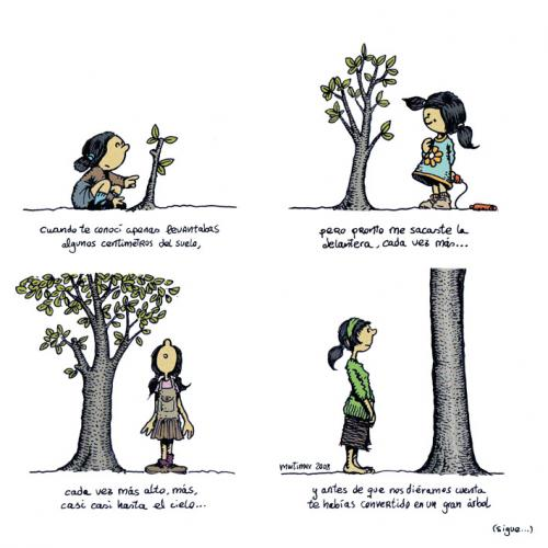 Cartoon: Abraza arboles 1 de 4 (medium) by mortimer tagged mortimer,mortimeriadas,cartoon,arbol,treebeing,deforestation,tree,hugger,abraza,arboles,abrazarboles,comic,ecologia