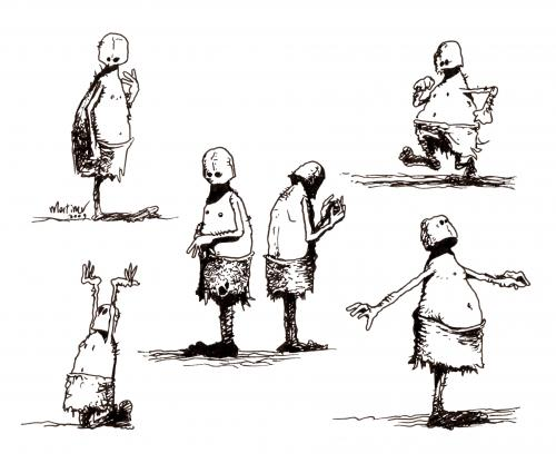 sketching monks