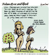 Cartoon: adam eve and god 03 (small) by mortimer tagged mortimer mortimeriadas cartoon comic gag adam eve god bible paradise eden biblical christian original sin sex nude toons hairy belly blonde