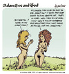 Cartoon: adam eve and god 04 (small) by mortimer tagged lilith mortimer mortimeriadas cartoon comic gag adam eve god bible paradise eden biblical christian original sin sex nude toons hairy belly blonde