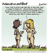 Cartoon: adam eve and god 07 (small) by mortimer tagged mortimer mortimeriadas cartoon comic gag adam eve god bible paradise eden biblical christian original sin sex nude toons hairy belly blonde