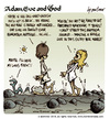 Cartoon: Adam Eve and God 41 (small) by mortimer tagged mortimer,mortimeriadas,cartoon,comic,biblical,adam,eve,god,snake,paradise,bible