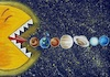Cartoon: Planets and Sun (small) by menekse cam tagged planet,sun,future,eat,pacman,gezegenler,gunes,gelecek
