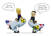 Cartoon: Donald and Kim (small) by Sven Raschke tagged donald,trump,kim,jong,un,war,diplomacy,usa,north,korea