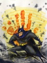 Cartoon: Hand print and a superhero (small) by bennaccartoons tagged batman,bennac,cartoons