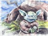 Cartoon: sketch of Yoda in class (small) by bennaccartoons tagged yoda sketch