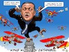 Cartoon: Erdogan King Kong (small) by Joshua Aaron tagged erdogan,kritiker,regierungsgegner