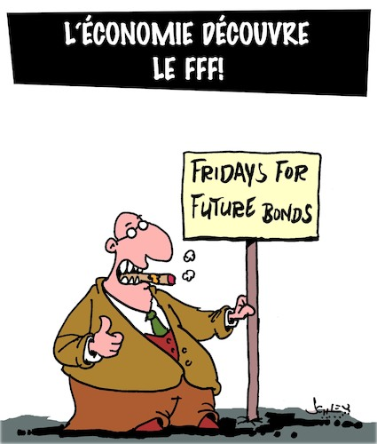 Cartoon: FFF (medium) by Karsten tagged economie,business,obligations,bourse,bonds,capitalisme,economie,business,obligations,bourse,bonds,capitalisme