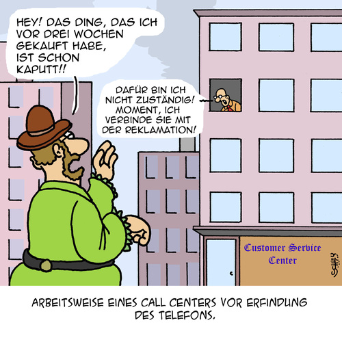 Cartoon: Gute alte Zeit... (medium) by Karsten tagged technik,callcenter,business,wirtschaft,kundenservice,geschichte,marketing,sales,technik,callcenter,business,wirtschaft,kundenservice,geschichte,marketing,sales