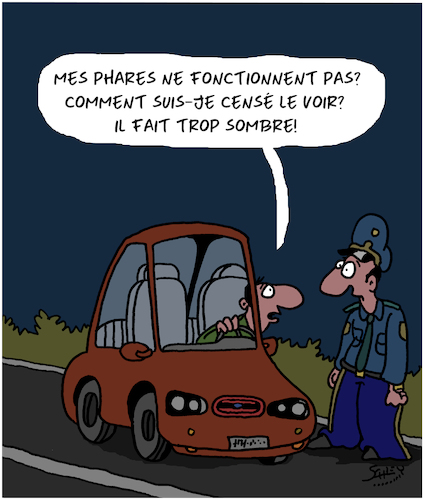 Cartoon: Obscurite (medium) by Karsten tagged trafic,voitures,saisons,technologie,gendarmes,trafic,voitures,saisons,technologie,gendarmes