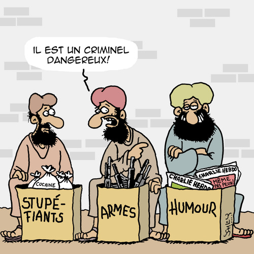 Cartoon: Tres Dangereux! (medium) by Karsten tagged economie,commerce,religion,armes,drogues,jihad,humour,liberte,de,la,presse,economie,commerce,religion,armes,drogues,jihad,humour,liberte,de,la,presse