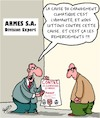 Cartoon: Analyse des causes profondes (small) by Karsten tagged climat,humanite,politique,armes,economie,profits,guerre