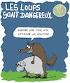 Cartoon: Dangereux!! (small) by Karsten tagged mouton,loups,betes,environnement,elevage,sexe,politique