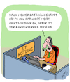 Cartoon: Danke Kundenservice (small) by Karsten tagged it,kundenservice,hotlines,callcenter,agenten,computer,technik,kunden,business,wirtschaft,support,experten,informatik,jobs,arbeit