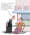 Cartoon: Garcon svp! (small) by Karsten tagged garcons,bistros,paris,france,service,politesse,clients,gastronomie,economie