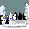 Cartoon: Haute Couture (small) by Karsten tagged mode,kleidung,fashion,haute,couture,tiere,pinguine,klima,natur