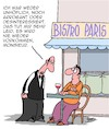 Cartoon: Herr Ober!! (small) by Karsten tagged gastronomie,paris,frankreich,kellner,service,kunden,business,wirtschaft,umsatz,höflichkeit,gesellschaft