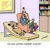 Cartoon: Internet Videos (small) by Karsten tagged computer,internet,social,media,tiere,videos,katzenvideos,psychologie,psychologen,hunde