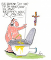 Cartoon: Kruzifixe überall!! (small) by Karsten tagged kruzifixe,religion,politik,fundamentalismus,bayern,christentum,jesus,verdauung,toiletten,alkoholmissbrauch,deutschland,gesellschaft