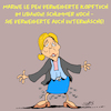 Cartoon: Marine Le Pen (small) by Karsten tagged politik,frankreich,fn,wahlen,marine,le,pen,rechtsextremismus,faschismus,europa,eu,rassismus,religion