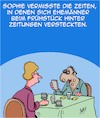 Cartoon: Morgengesicht (small) by Karsten tagged ehe,familie,männer,frauen,liebe,zeitungen,mobiltelefone,technik,geschichte,schönheit,gesellschaft