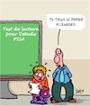 Cartoon: PISA (small) by Karsten tagged pisa,ecole,education,politique,etudiants