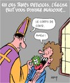 Cartoon: Temps difficile (small) by Karsten tagged covid19,religion,eglise,politique,consolation,science,noel,mort,societe
