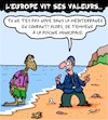 Cartoon: Valeurs (small) by Karsten tagged immigration,refugies,politique,europe,guerre,fuite,valeurs,nationalisme