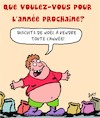 Cartoon: Voeux du Nouvel An (small) by Karsten tagged noel,souhaits,surpoids,alimentation,sante