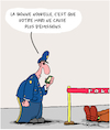 Cartoon: Zero Emissions (small) by Karsten tagged environnement,climat,police,mariage,mort,nature