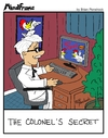 Cartoon: MINDFRAME (small) by Brian Ponshock tagged colonel,sanders,kfc,chicken