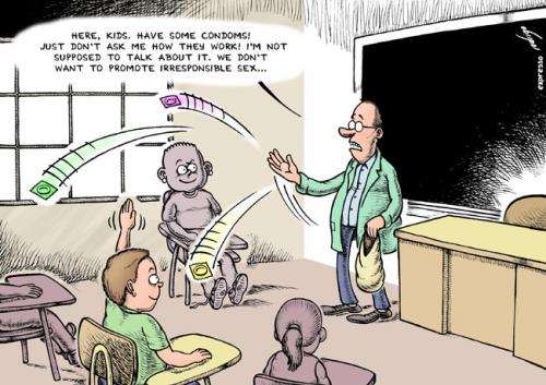 Cartoon: Sex education (medium) by rodrigo tagged education,school,teacher,
