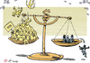 Cartoon: Economic gap (small) by rodrigo tagged rich,poor,one,percent,richest,fortune,inequality
